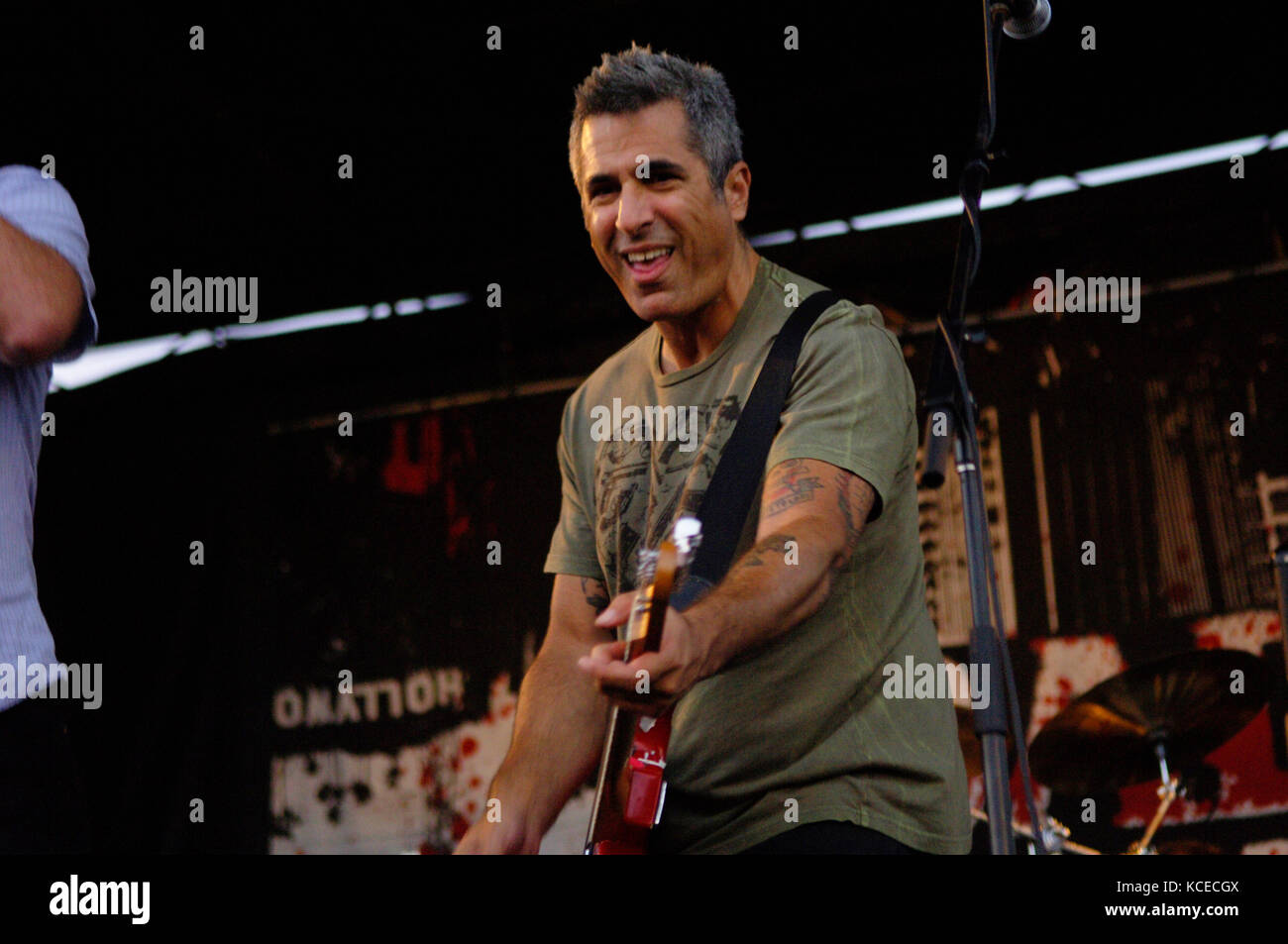 Brett Gurewitz of Bad Religion performs at the 2007 Vans Warped Tour at the Home Depot Center in Carson, CA for - Stock Image