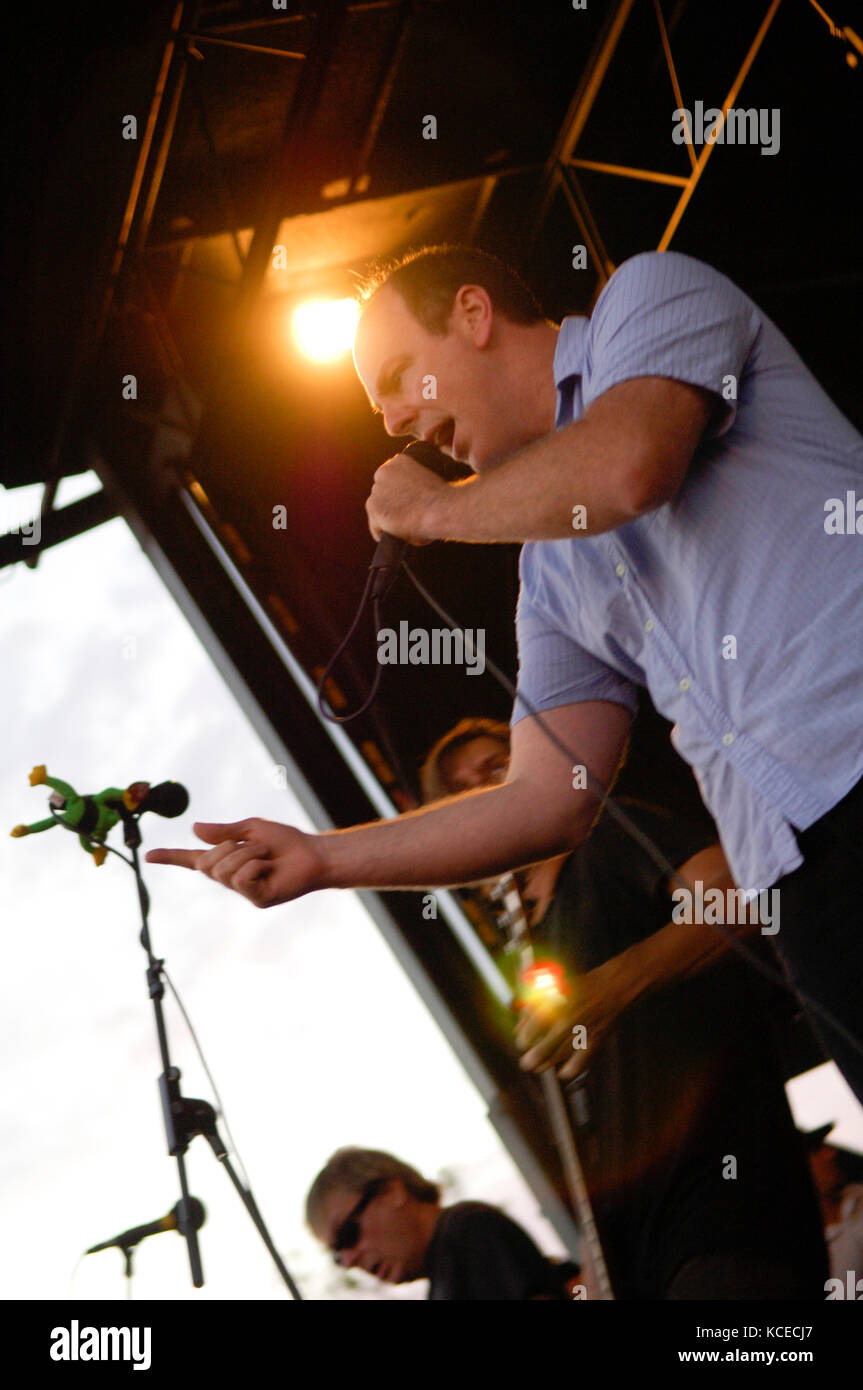 Greg Graffin of Bad Religion performs at the 2007 Vans Warped Tour at the Home Depot Center in Carson, CA for the - Stock Image