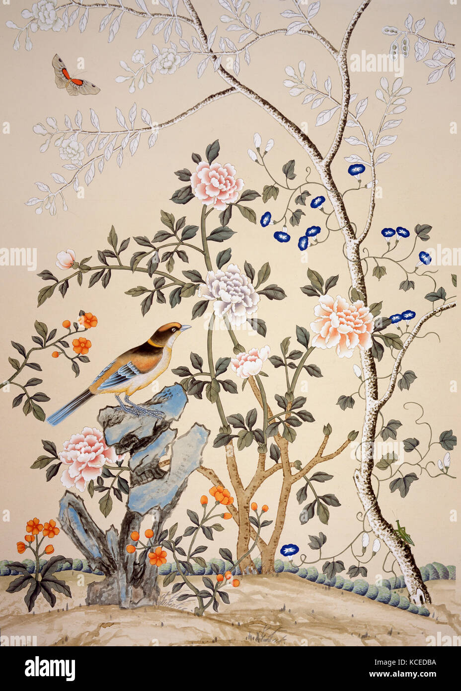 Chinoiserie Wallpaper Stock Photos Chinoiserie Wallpaper Stock