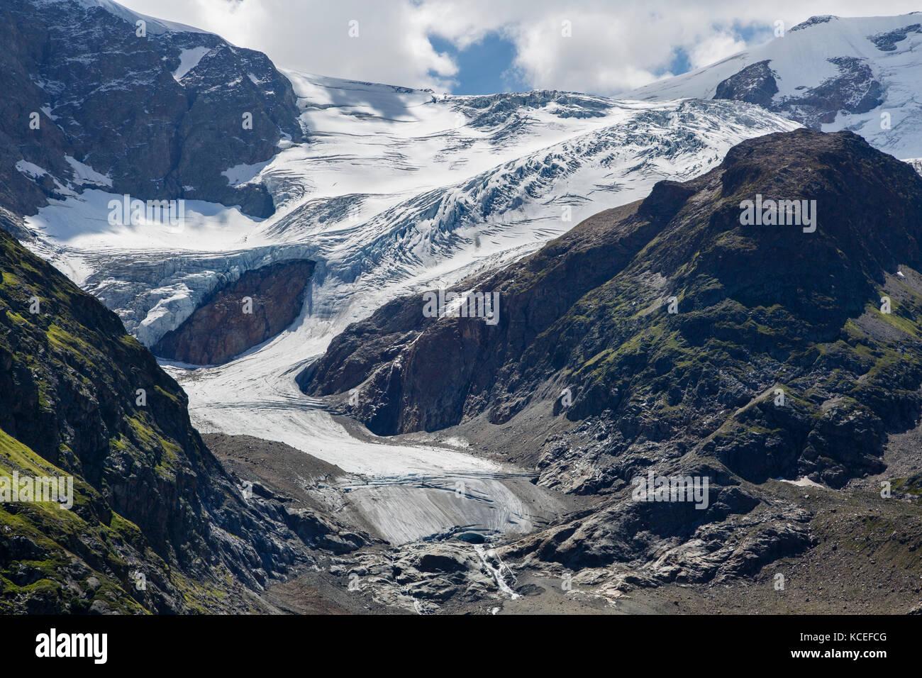 The Stein Glacier seen from the Susten Pass, Switzerland - Stock Image