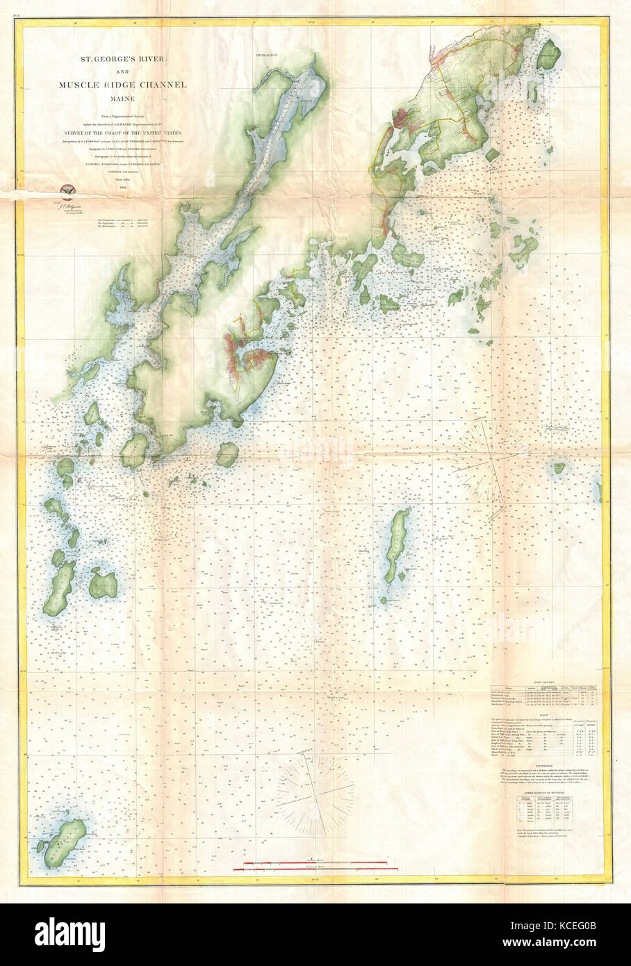 1864 Us Coast Survey Map Or Chart Of St Georges River And Muscle - Us-map-1864