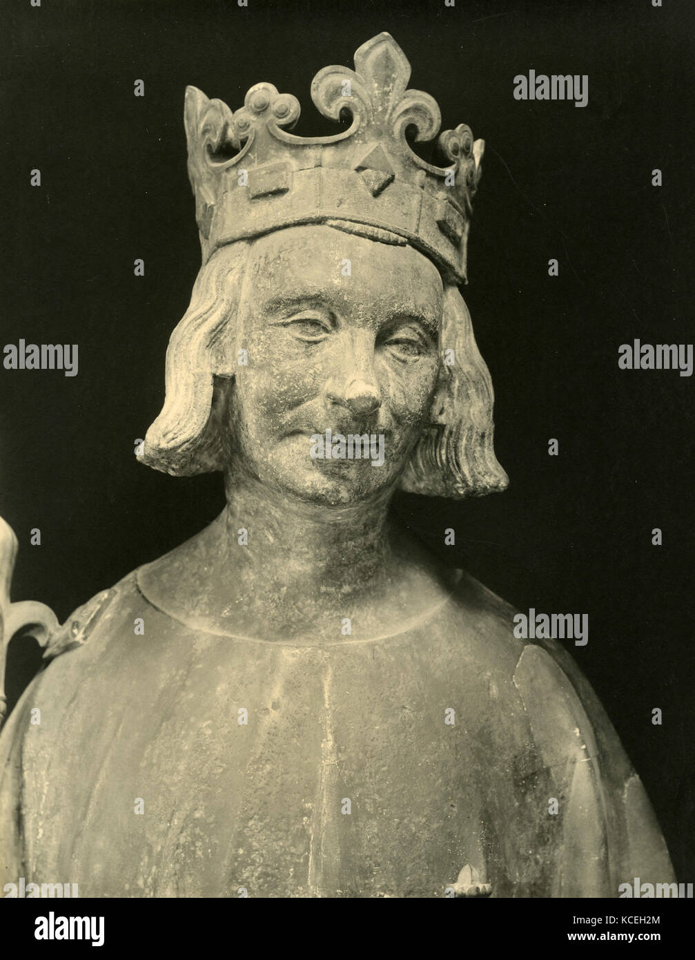 Charles V King of France, marble bust Stock Photo