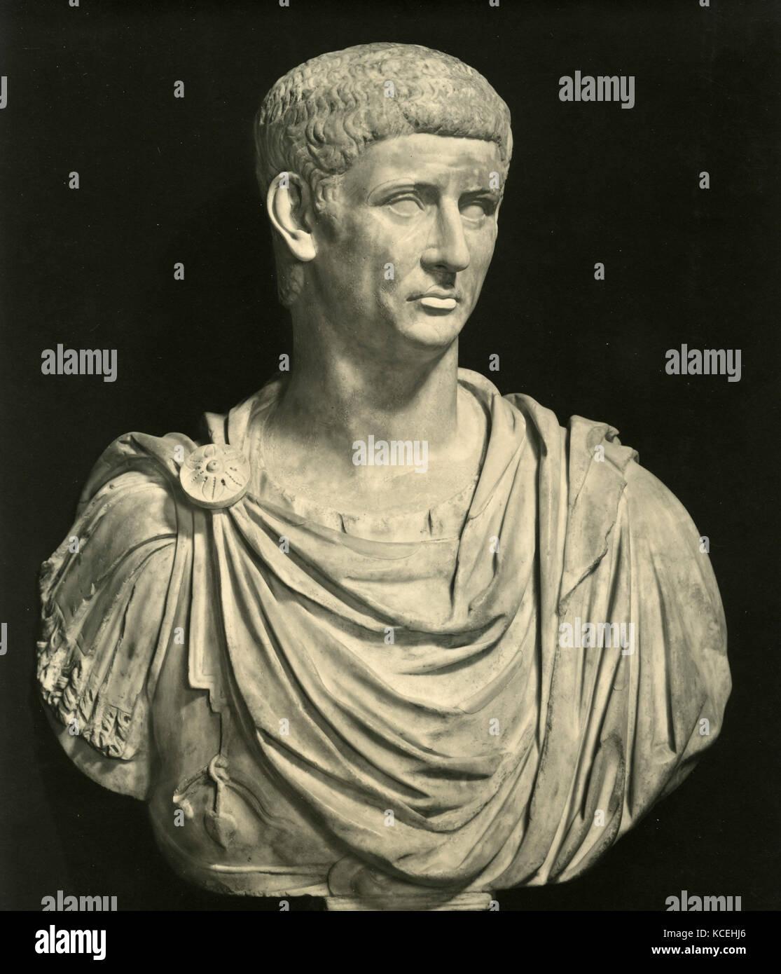 Claudius Roman emperor, marble bust - Stock Image
