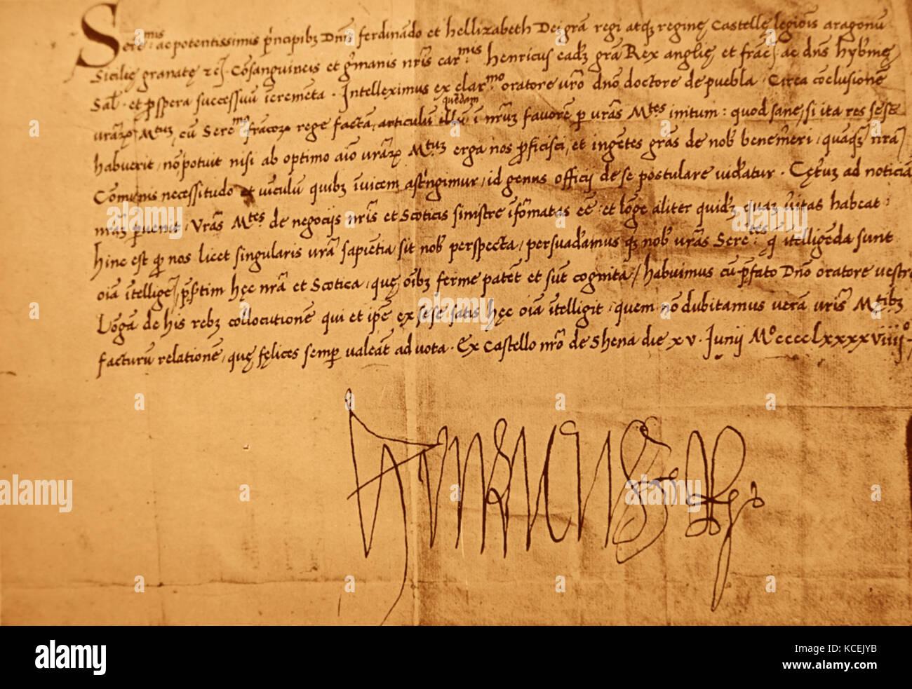 Christopher Columbus Letter To King Ferdinand.Ferdinand And Isabella Stock Photos Ferdinand And Isabella