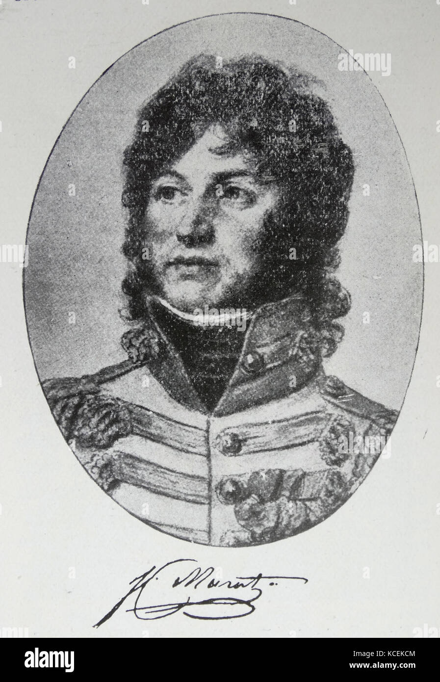 Portrait of Prince Joachim Murat (1767-1815) a Marshal of France and Admiral of France. Dated 19th Century - Stock Image