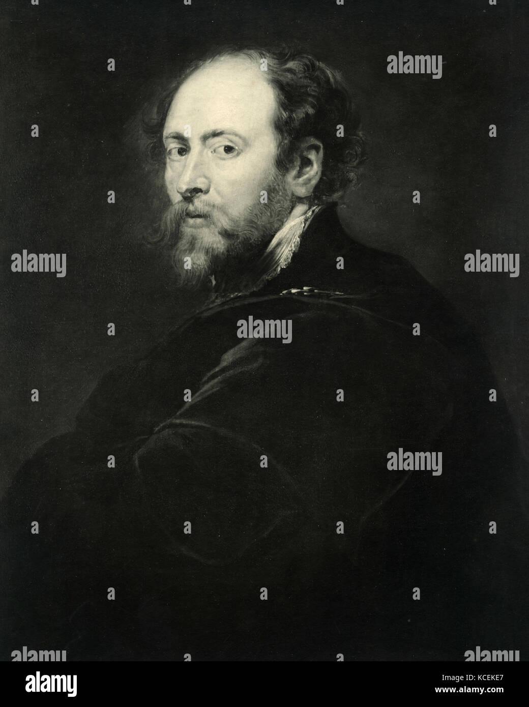Self-portrait of Rubens - Stock Image