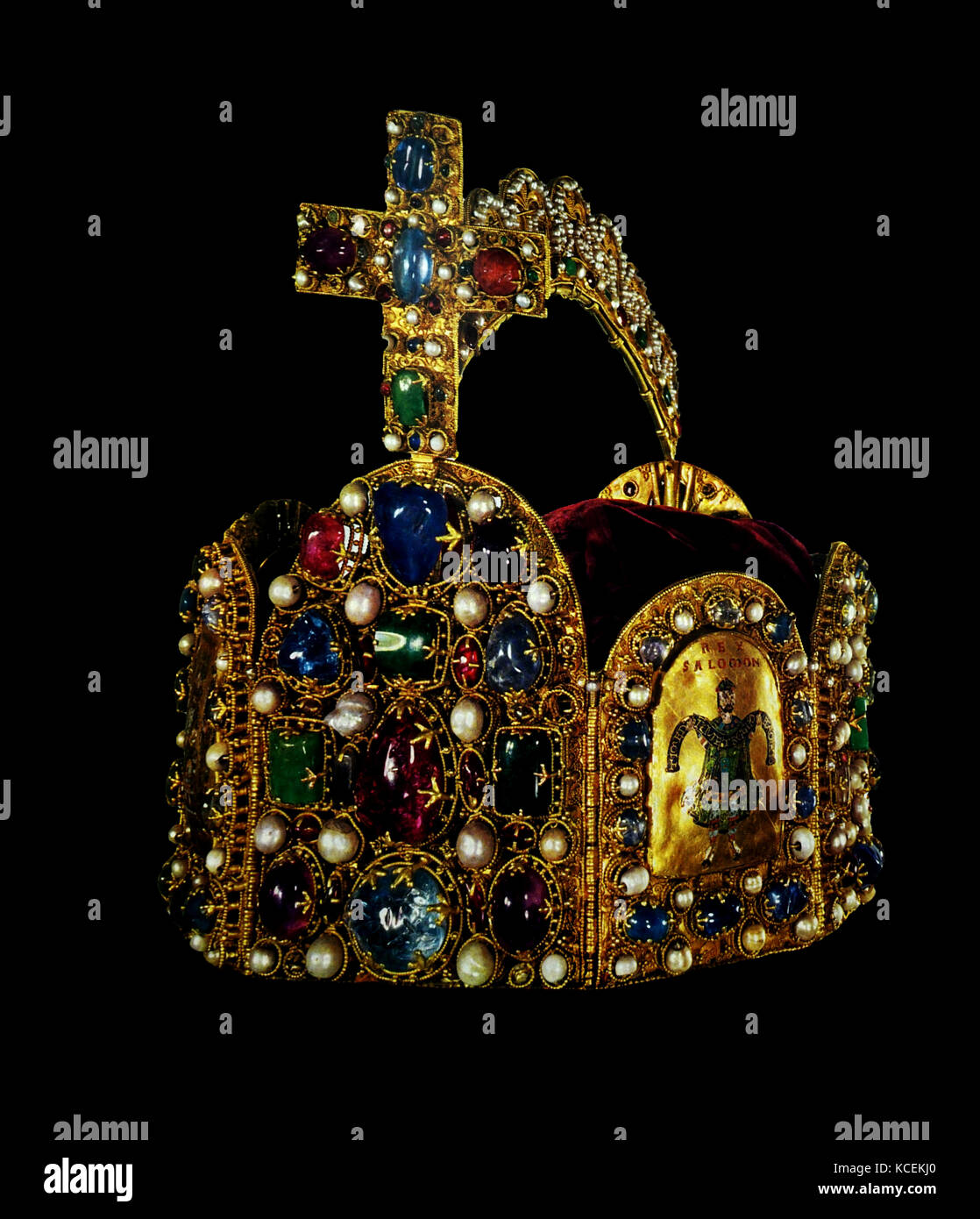 Imperial Crown from the regalia of the Holy Roman Empire. Dated 11th Century - Stock Image