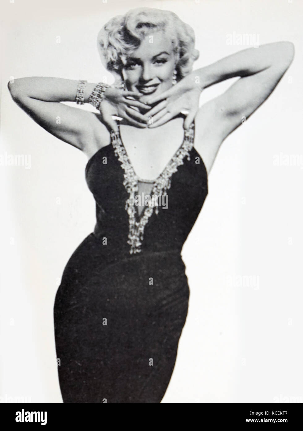 Photograph of Marilyn Monroe (1926-1962) an American actress, singer and model. Dated 20th Century - Stock Image