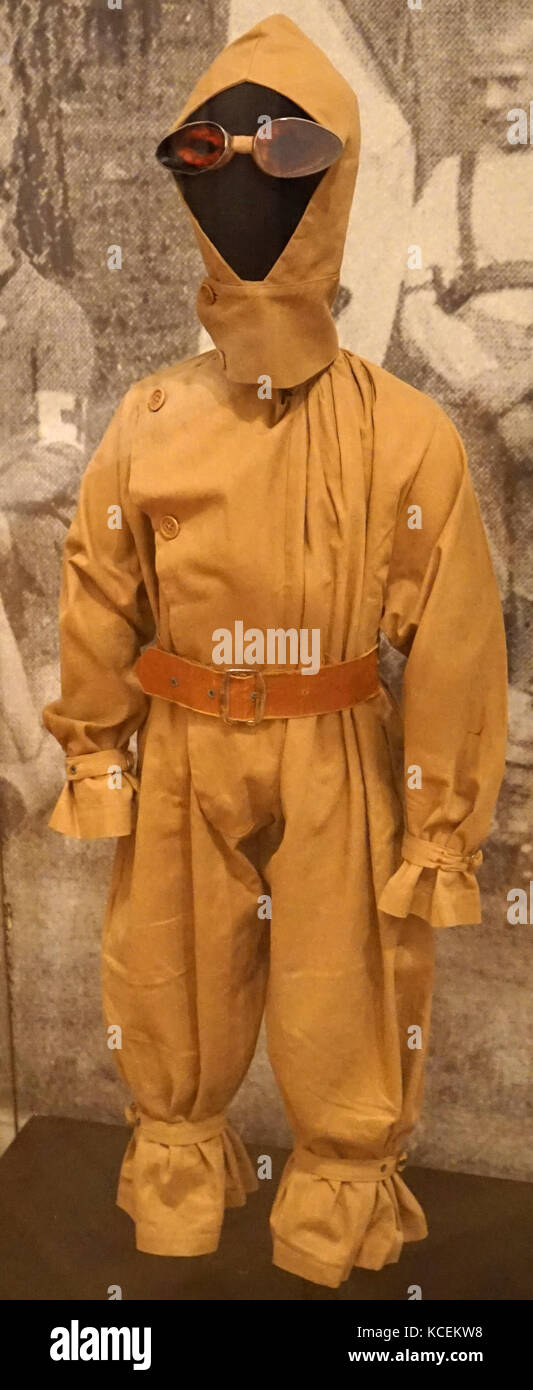 1930s Childs pilot outfit which would have been worn during costume competitions. Dated 20th Century - Stock Image
