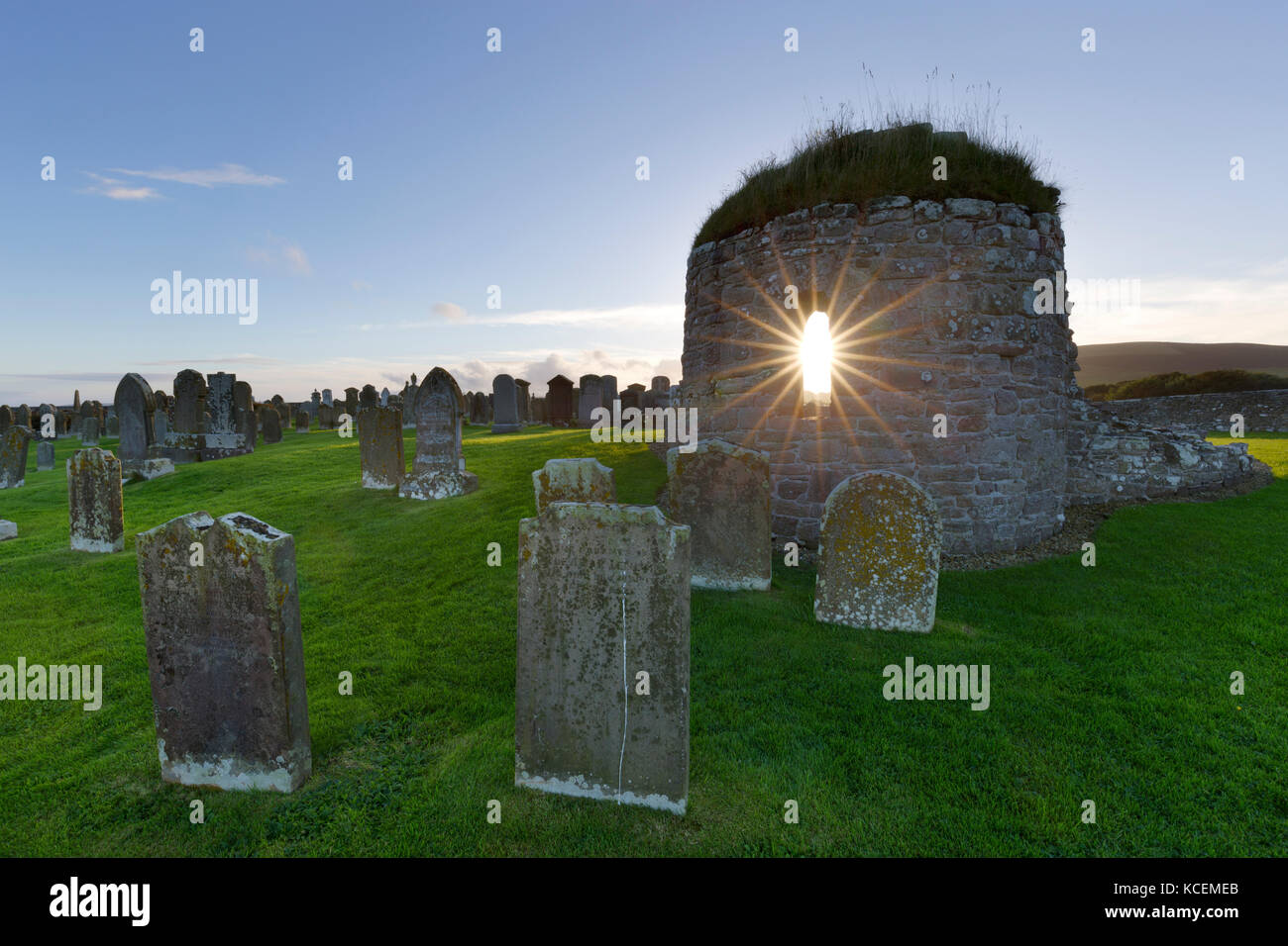 Orphir round church, Orkney isles - Stock Image