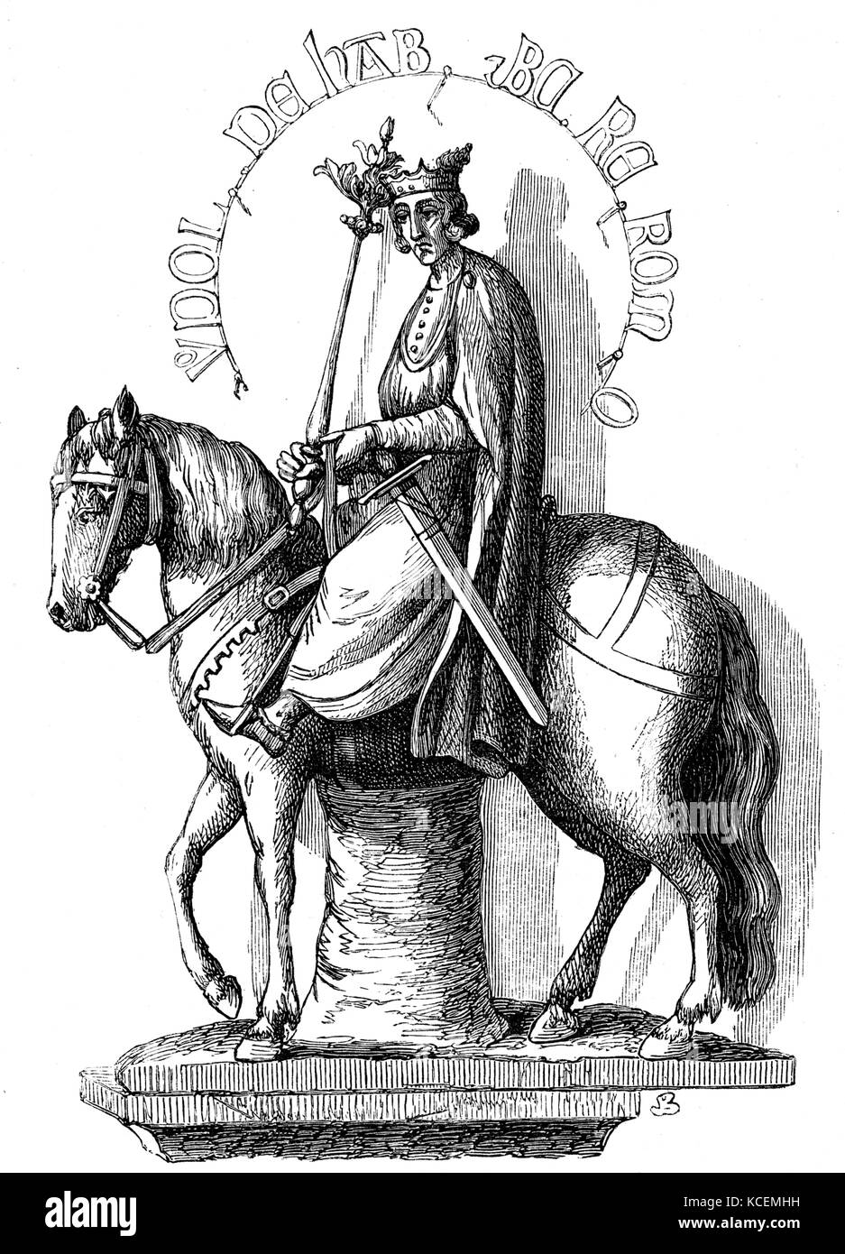 Rudolf II (1270 – May 10, 1290), a member of the House of Habsburg, was Duke of Austria and Styria from 1282 to - Stock Image