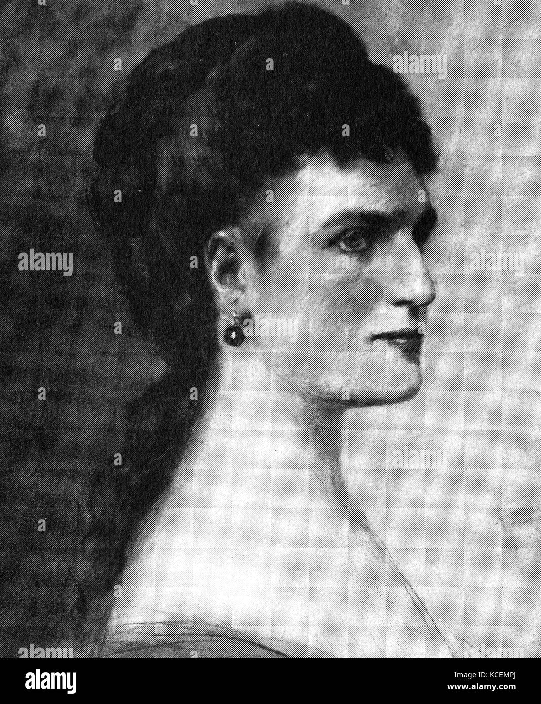 Teresa Stoltz (1834 – 1902), was a Bohemian soprano, long resident in Italy, who was associated with significant - Stock Image