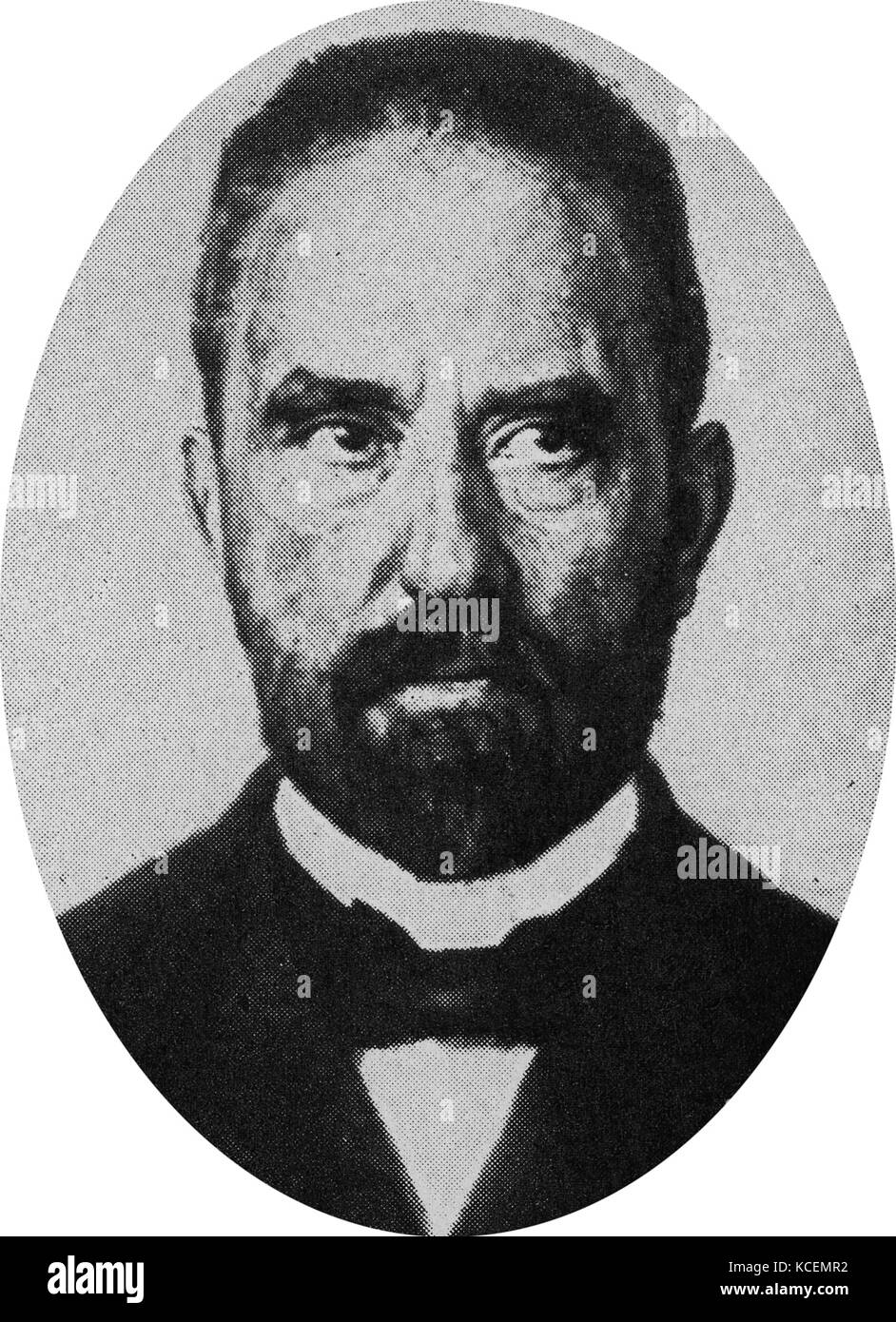 Hugo Dieter Stinnes (1870 – 1924) was a German industrialist and politician. - Stock Image