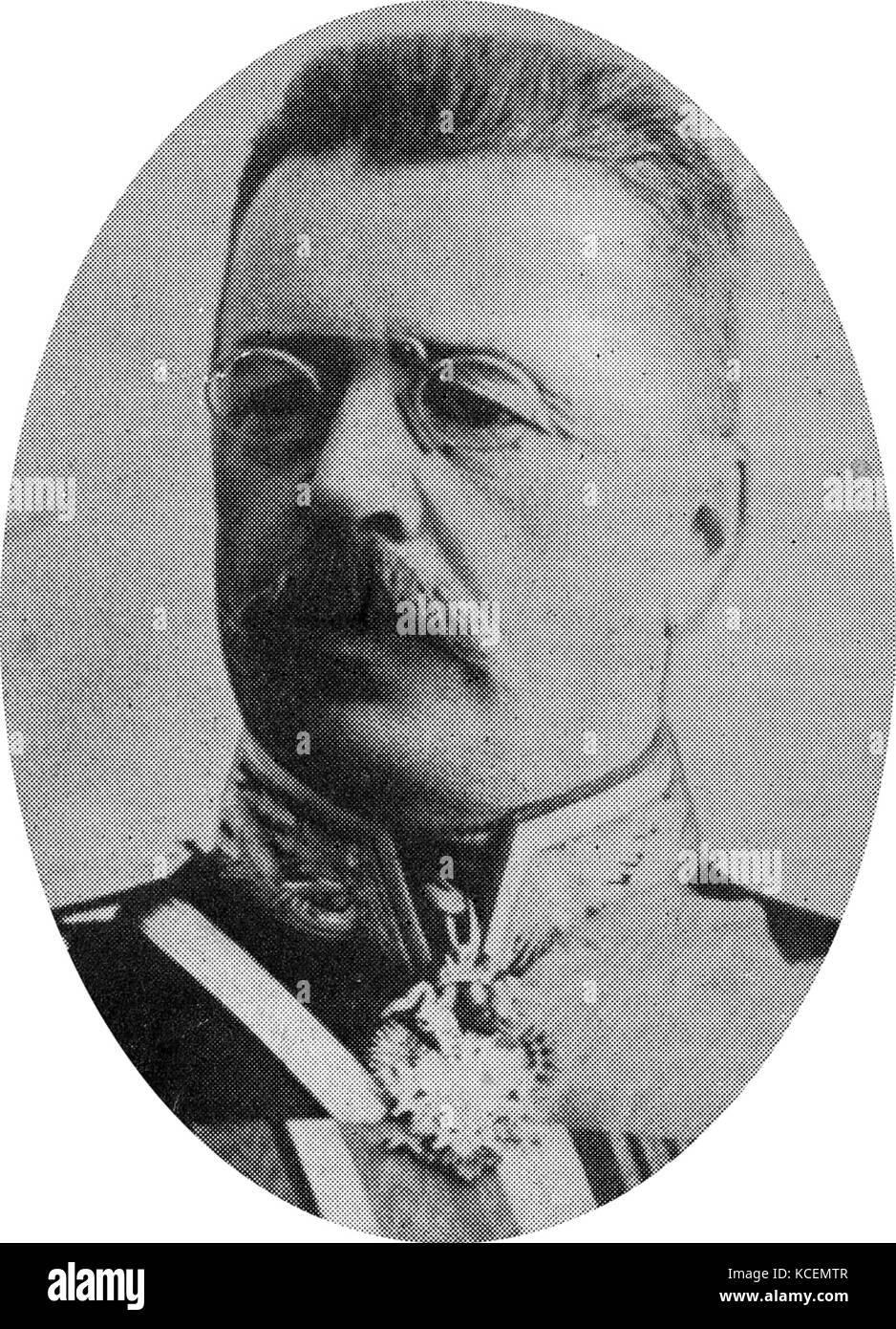 Nikolai Vladimirovich Russki (1854 - 18 October 1918), Russian army General. - Stock Image
