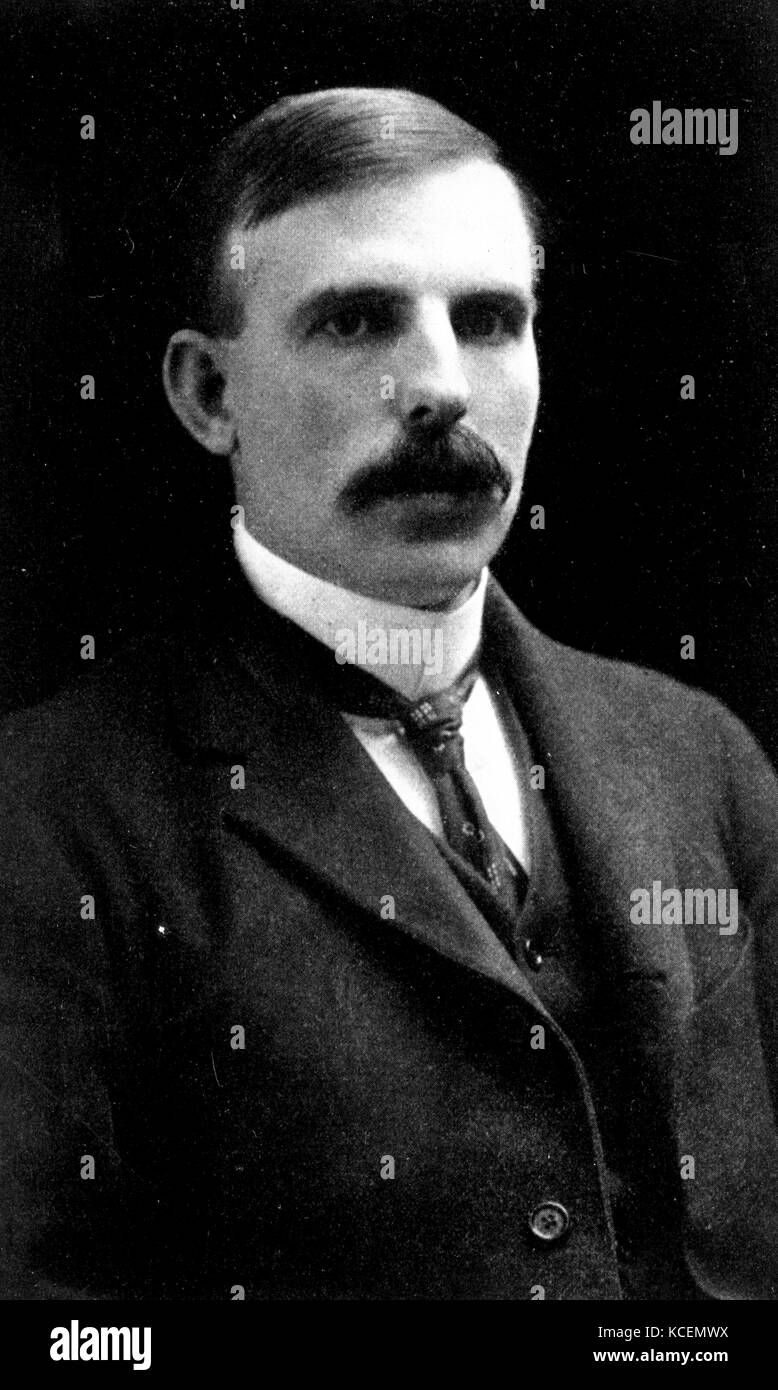 Ernest Rutherford (1871–1937), 1st Baron Rutherford of Nelson, known as the 'father of nuclear physics' Stock Photo