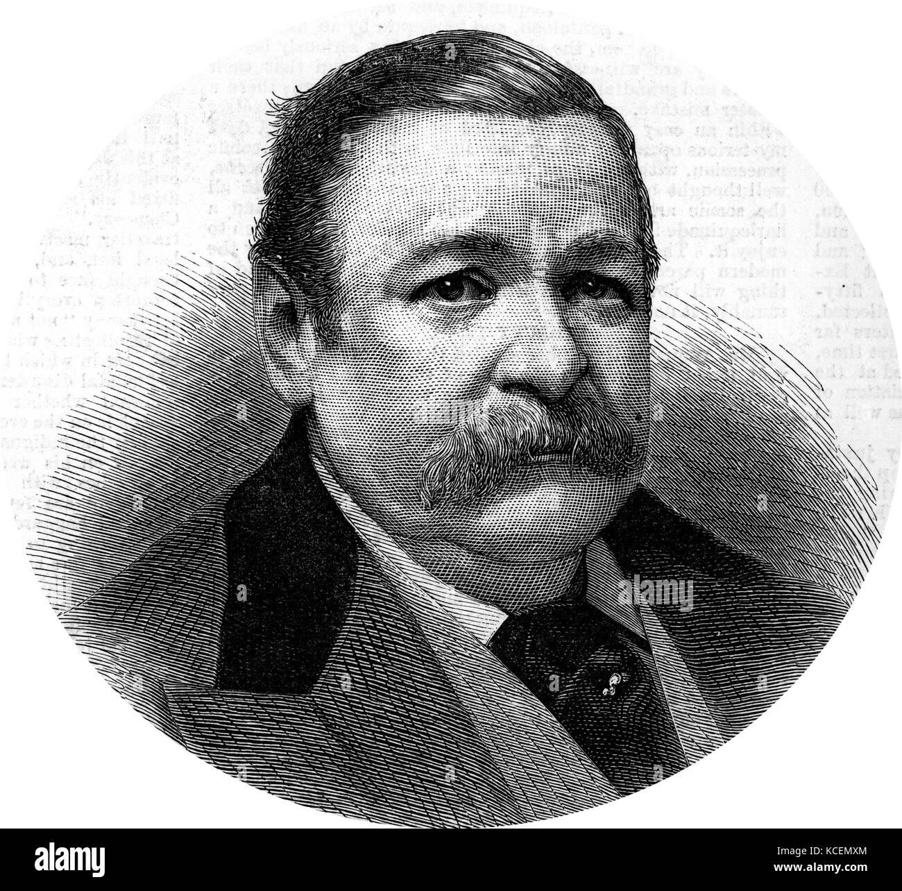 George Augustus Henry Sala (24 November 1828 – 8 December 1895), was an English journalist. - Stock Image