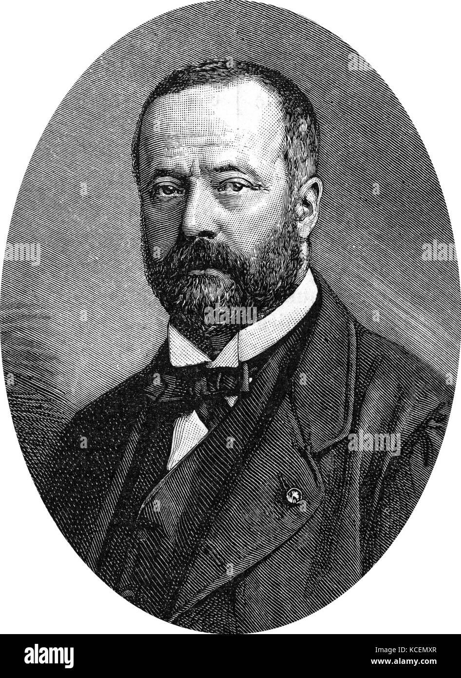 Henri Étienne Sainte-Claire Deville (11 March 1818 – 1 July 1881) was a French chemist. - Stock Image