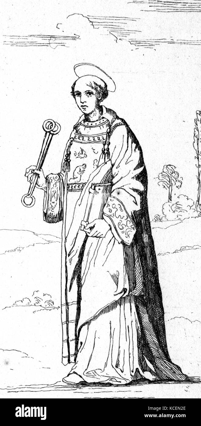 St Leonard of Noblac (died 559 AD), is a Frankish saint closely associated with the town and abbey of Saint-Léonard - Stock Image