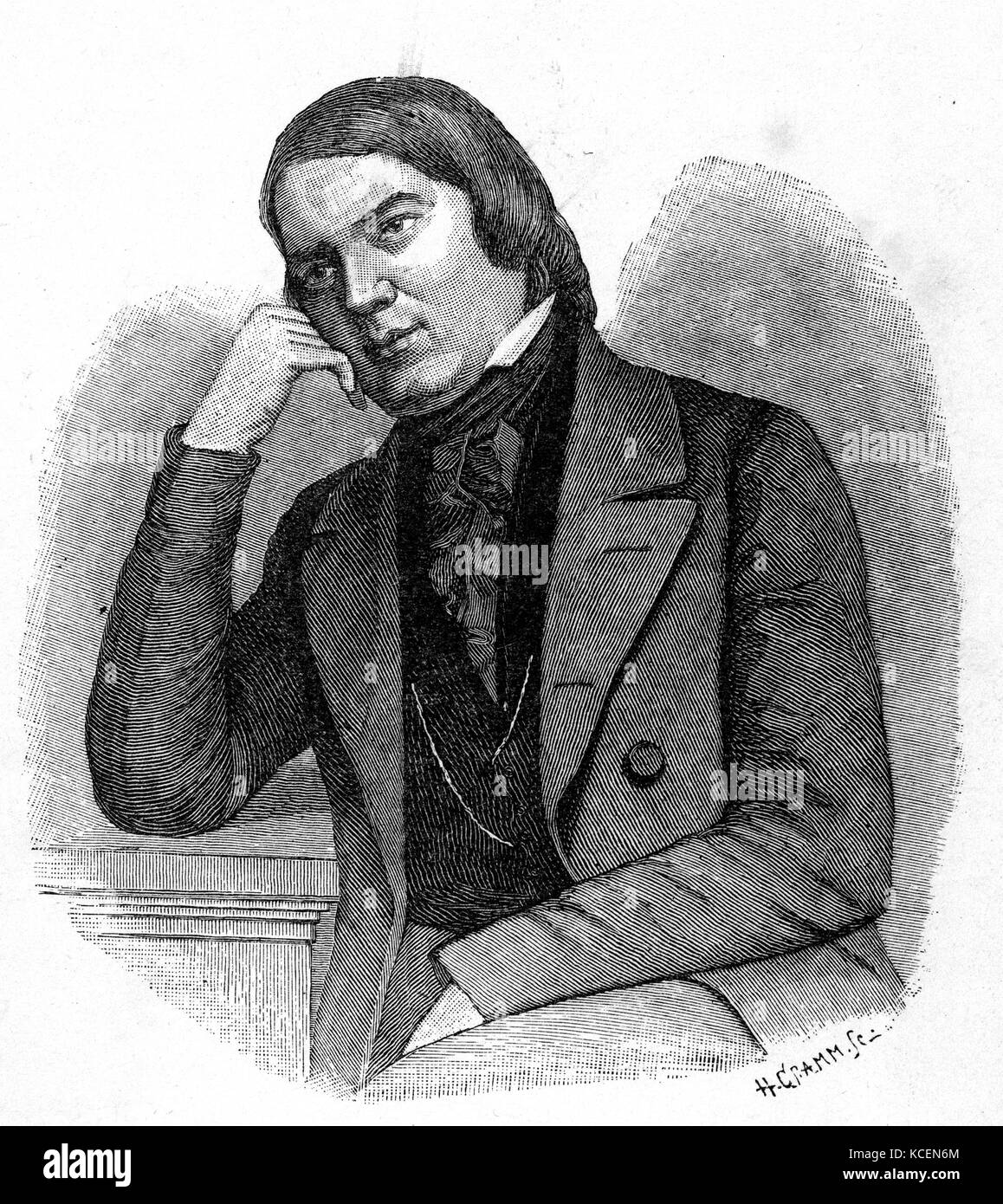 Robert Schumann (1810 – 1856) German composer and influential music critic. He is widely regarded as one of the - Stock Image