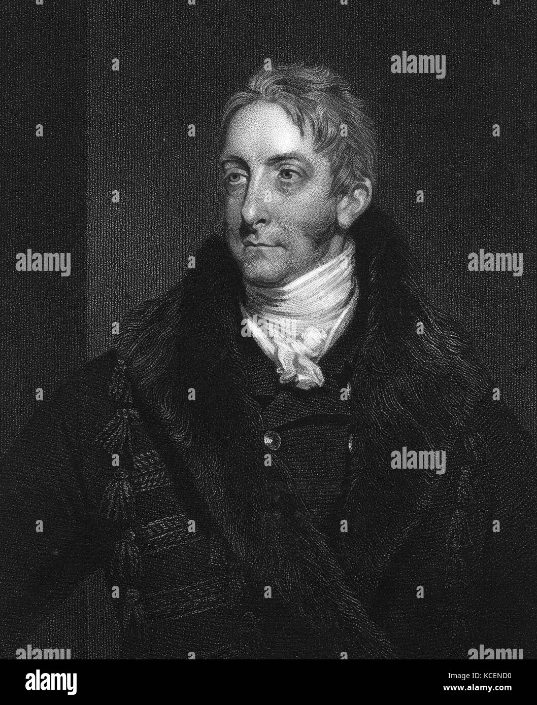 Portrait of Cropley Ashley-Cooper, 6th Earl of Shaftesbury (1768-1851) a British politician. Dated 19th Century - Stock Image