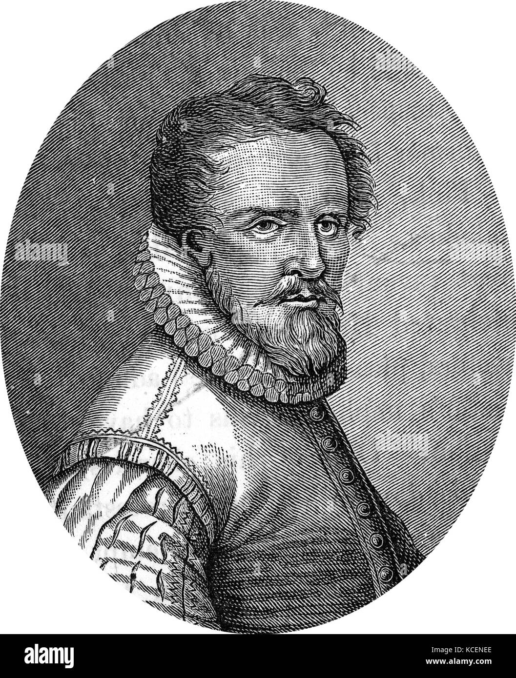 Portrait of Ludwig Senfl (1486-1543) a Swiss composer of the Renaissance. Dated 16th Century - Stock Image