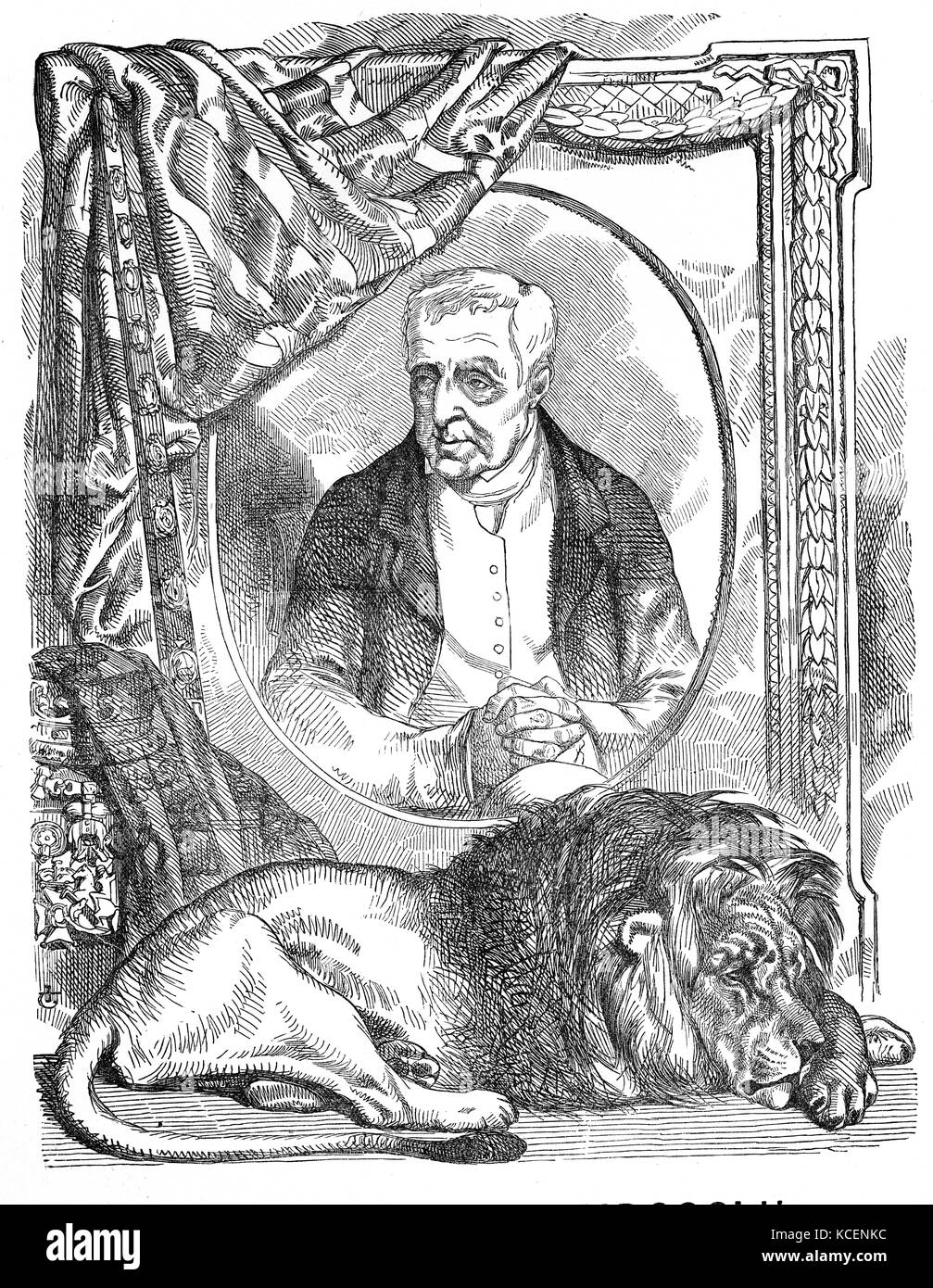 Portrait of Arthur Wellesley, 1st Duke of Wellington (1769-1852) an Anglo-Irish soldier, statesman, and leading - Stock Image