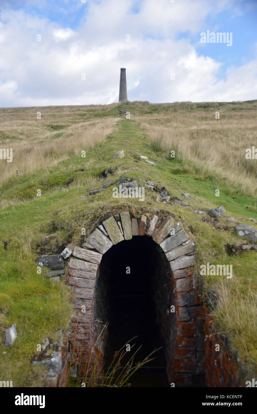 The Smelt Mill Chimney at Grassington's Old Disused Lead