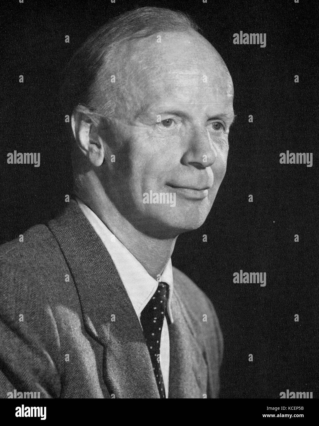 Photograph of Herbert Squire (1909-1961) a British aerospace engineer and Zaharoff Professor of Aviation at the - Stock Image