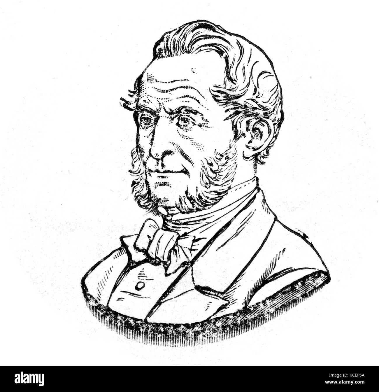 Portrait of Peter Squire (1798-1884) British President of the Pharmaceutical Society. Dated 19th Century - Stock Image
