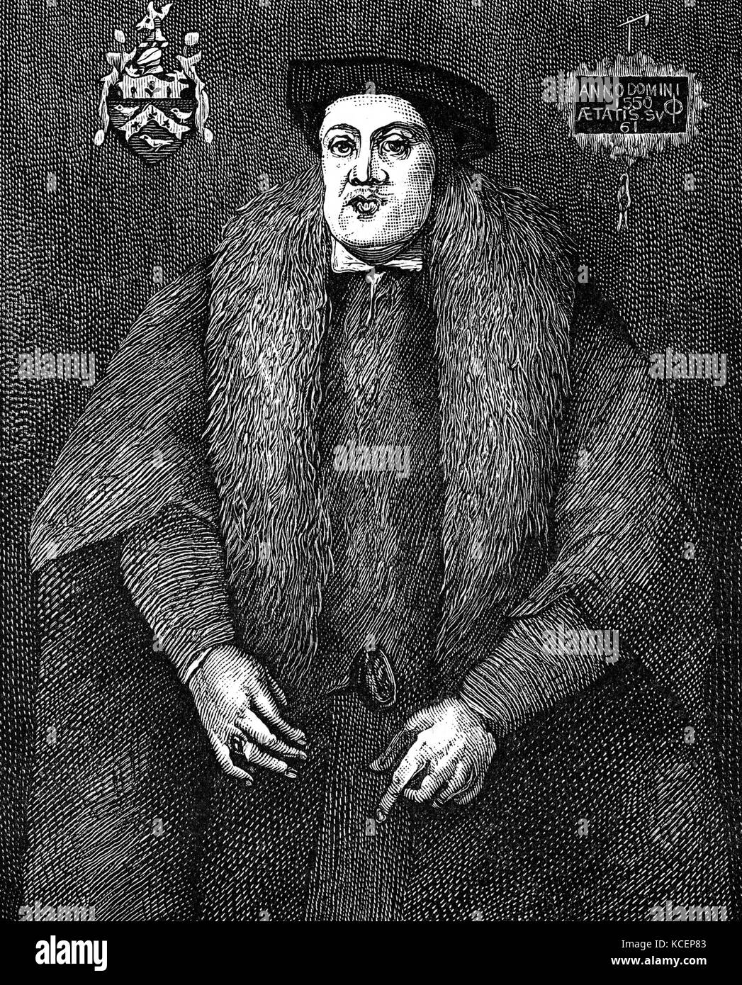 Portrait of Jack O'Newbury (1489-1557) an English clothier. Dated 16th Century - Stock Image