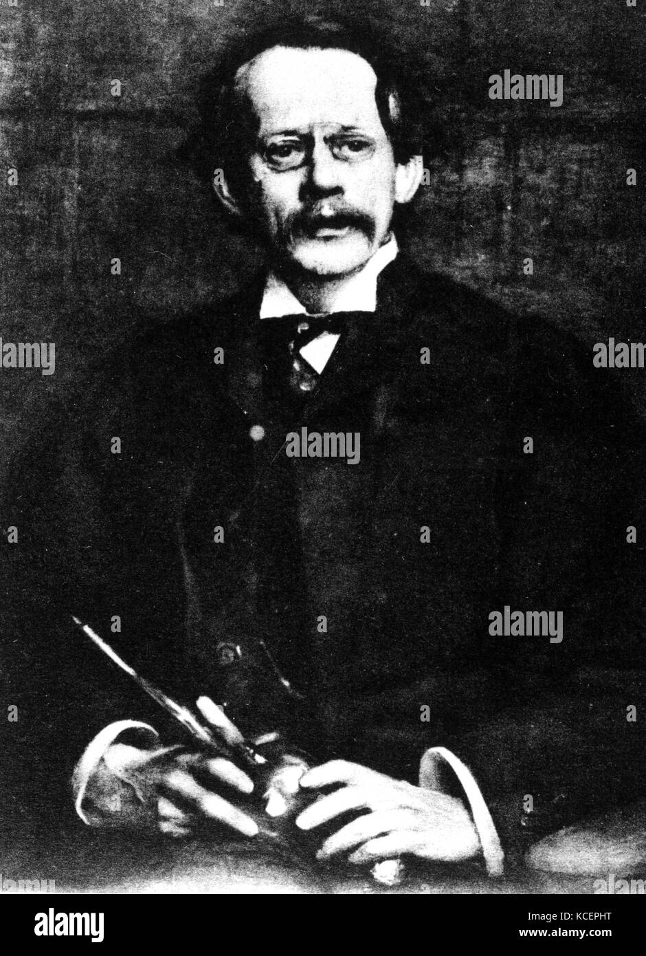 Photograph of J. J. Thompson (1856-1940) an English physicist and Noble Prize laureate in Physics. Dated 20th Century Stock Photo