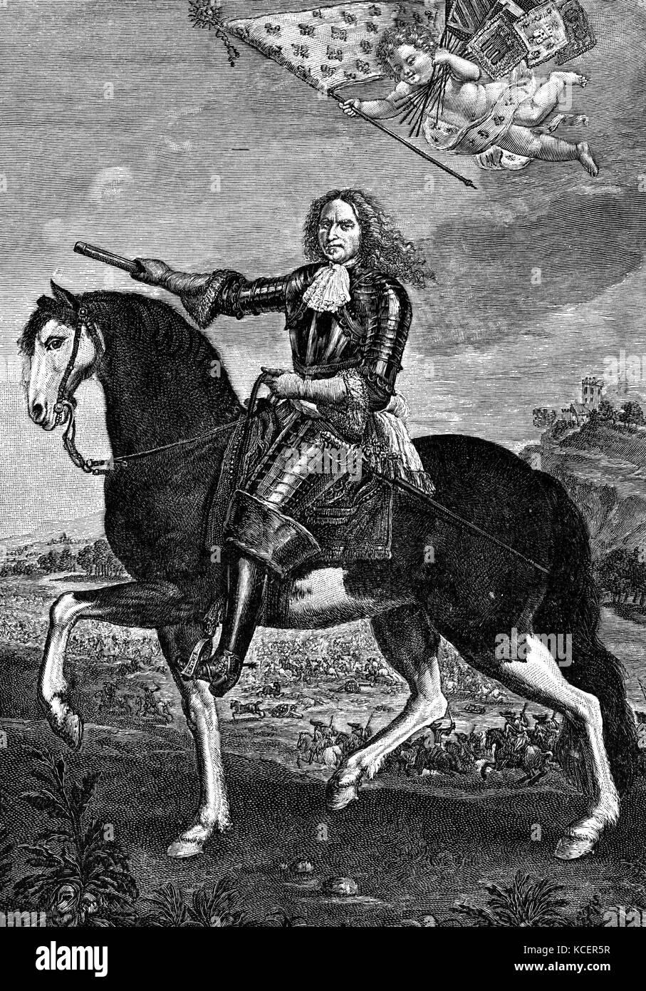 Portrait of Henri de la Tour d'Auvergne, Vicomte de Turenne (1611-1675) Marshal of France and member of the - Stock Image