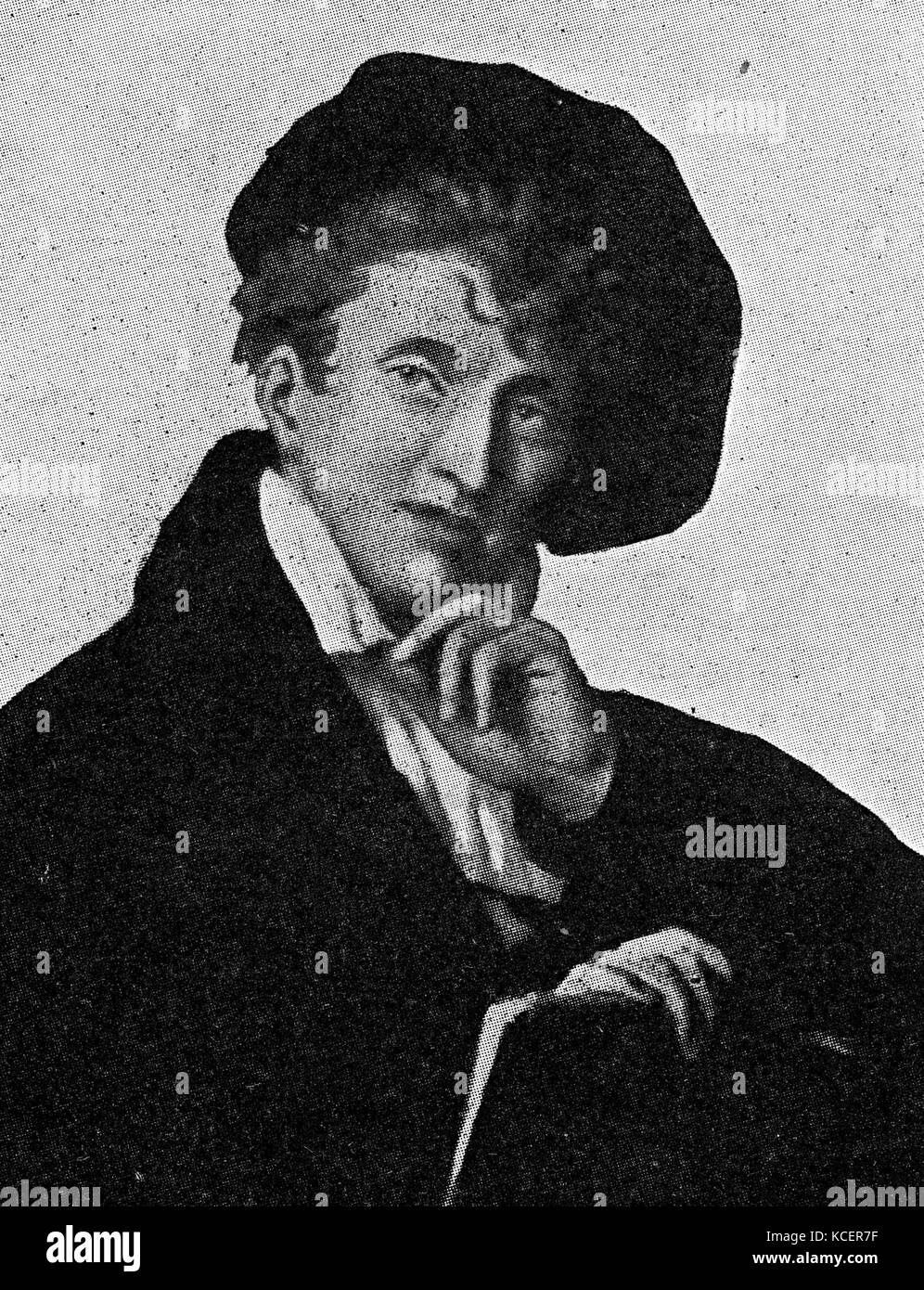 Portrait of Ludwig Geyer (1779-1821) a German actor, playwright, and painter. Dated 19th Century - Stock Image