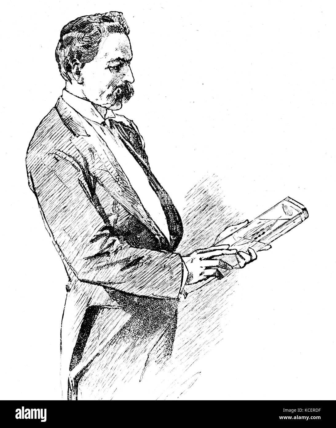 Illustration depicting Harry Marshall Ward (1854-1906) a British botanist, mycologist, and plant pathologist. Dated - Stock Image