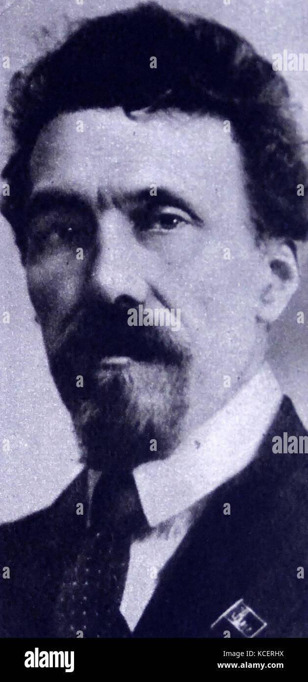 Alexei Ivanovich Rykov (1881 – 1938) Russian Bolshevik revolutionary and a Soviet politician most prominent as Premier - Stock Image