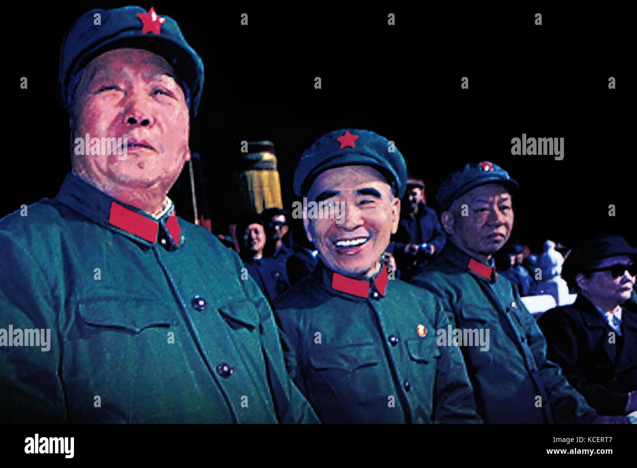 Chairman Mao Zedong; Defence Minister Lin Biao; President Liu Shao qi and Vice Chairman, Soong Ching Ling on the - Stock Image