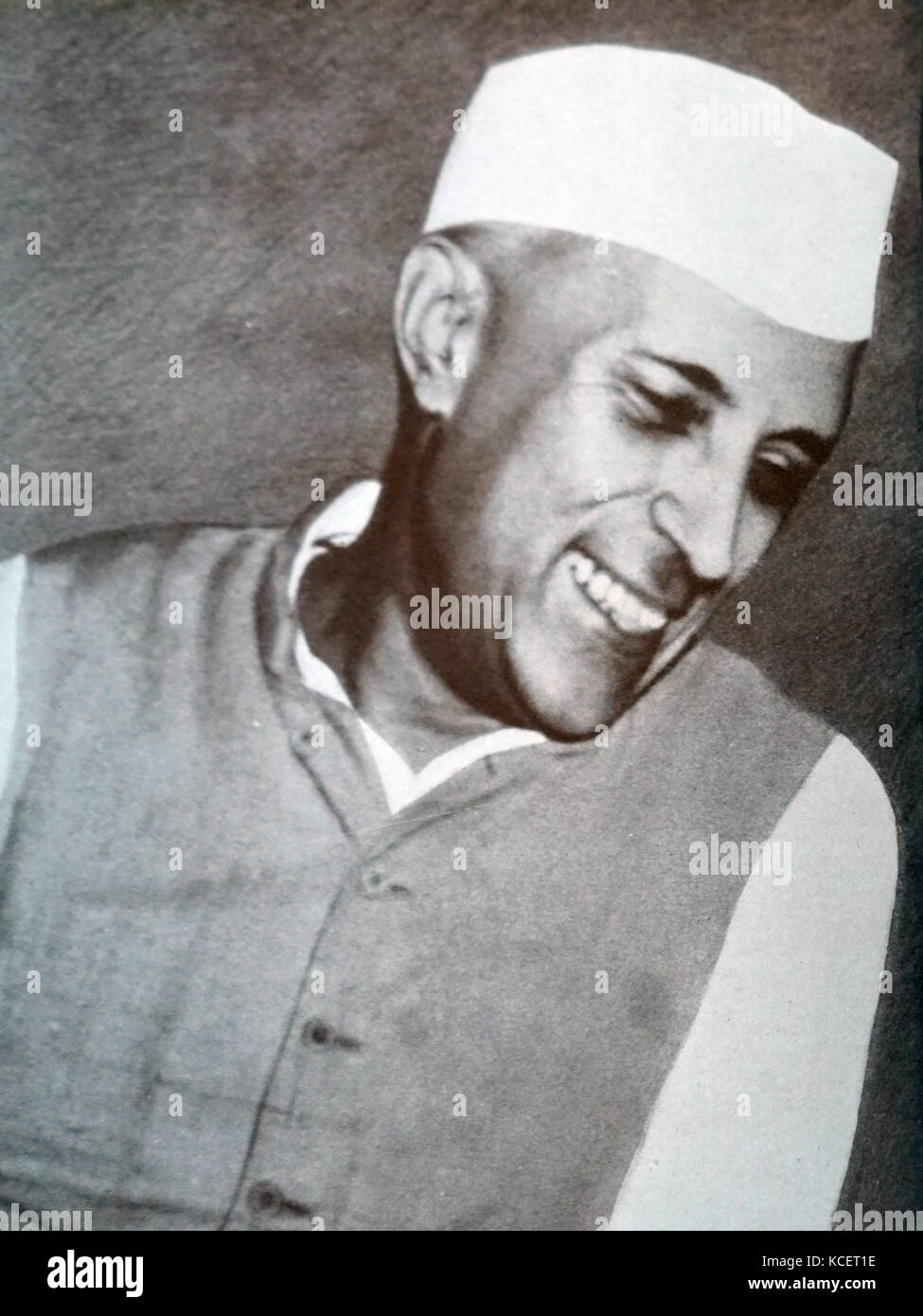 Jawaharlal Nehru (1889 – 1964) was the first Prime Minister of India - Stock Image
