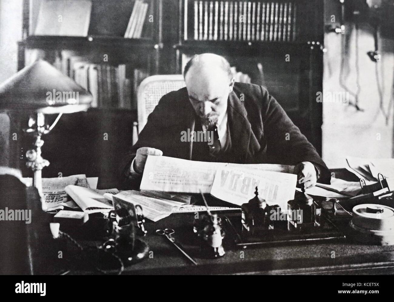 Russian Communist leader, Vladimir Lenin 1920 - Stock Image