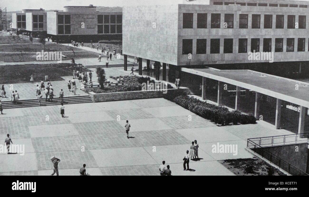 Campus of the Hebrew University in Jerusalem Israel circa 1950 Stock Photo