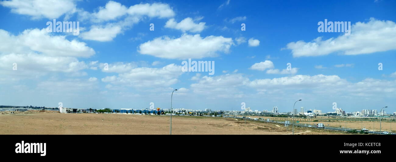 The city skyline of Beersheba in the Negev Desert of southern Israel - Stock Image
