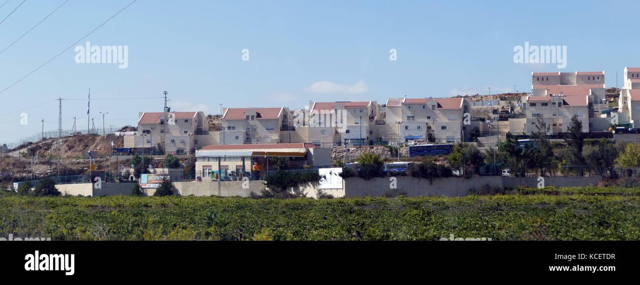 Jewish (Israeli) settlement under development in the West Bank, Palestine 2016 - Stock Image