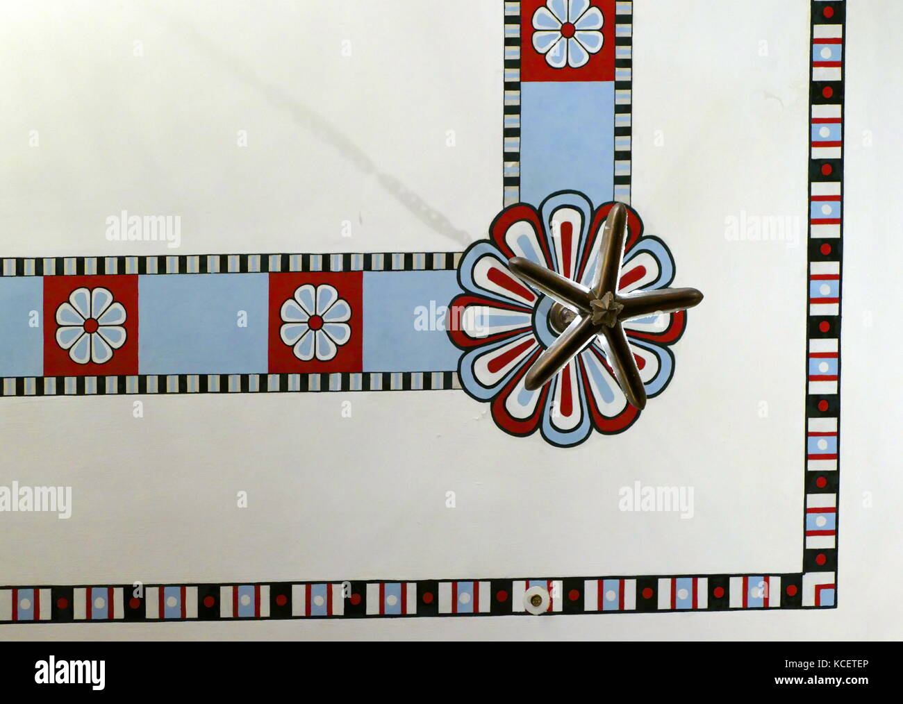 Art Deco decoration still preserved at the King David Hotel, Jerusalem, Israel dating to its' opening in 1931 - Stock Image