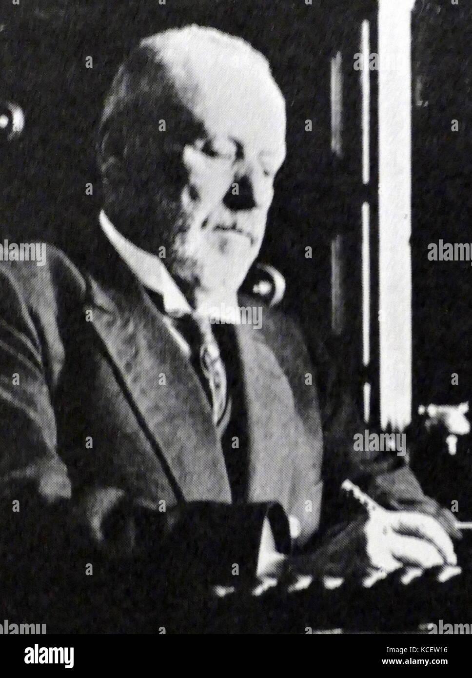 Mikhail Vladimirovich Rodzianko (1859 – 1924). Russian politician and statesman of Ukrainian origin. Chairman of - Stock Image