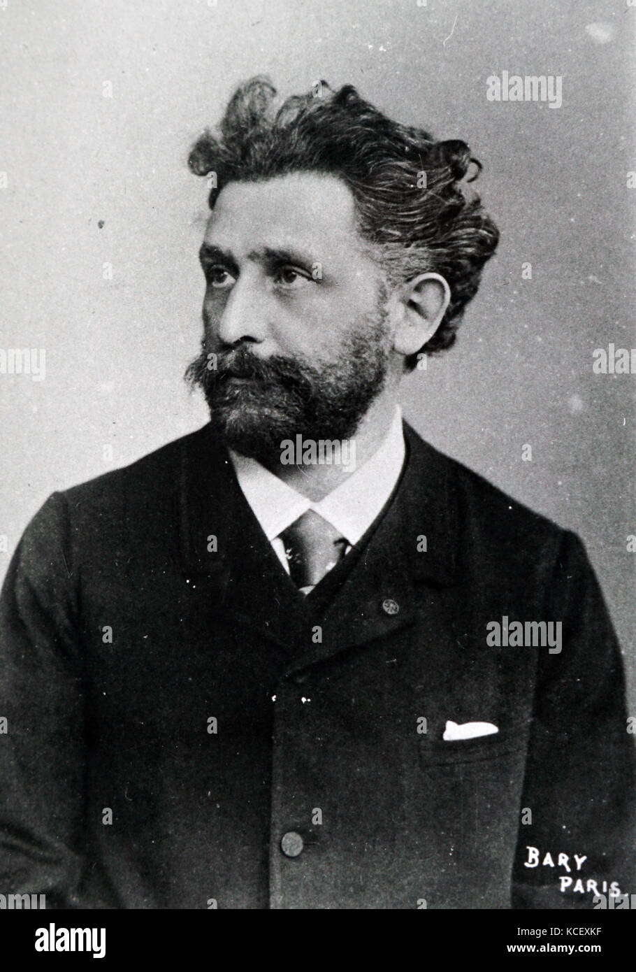 Photograph of Tony Robert-Fleury (1837 –1911), a French painter, known primarily for historical scenes. He was also - Stock Image