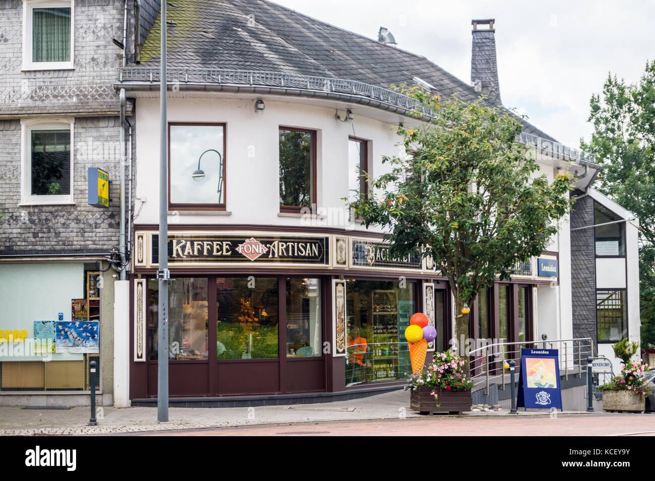 Bäckerei- Konditorei Fonk, exterior, St. Vith, Ostbelgien (Cantons de l'Est), Belgium Stock Photo