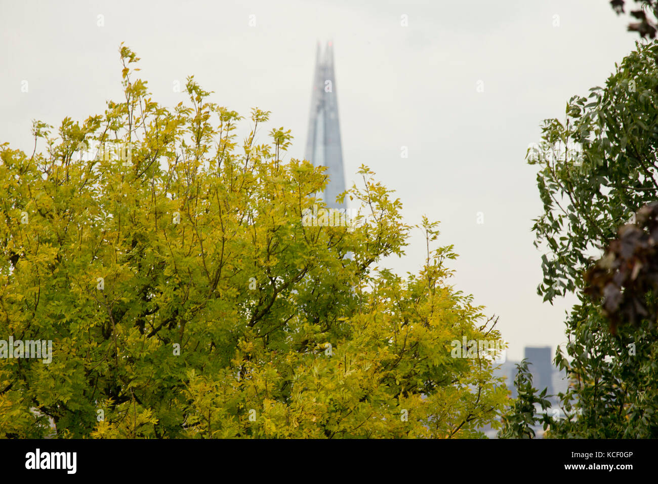 London, UK. 4th October, 2017. View from Primrose Hill, London UK. Credit: Sebastian Remme/Alamy Live News Stock Photo