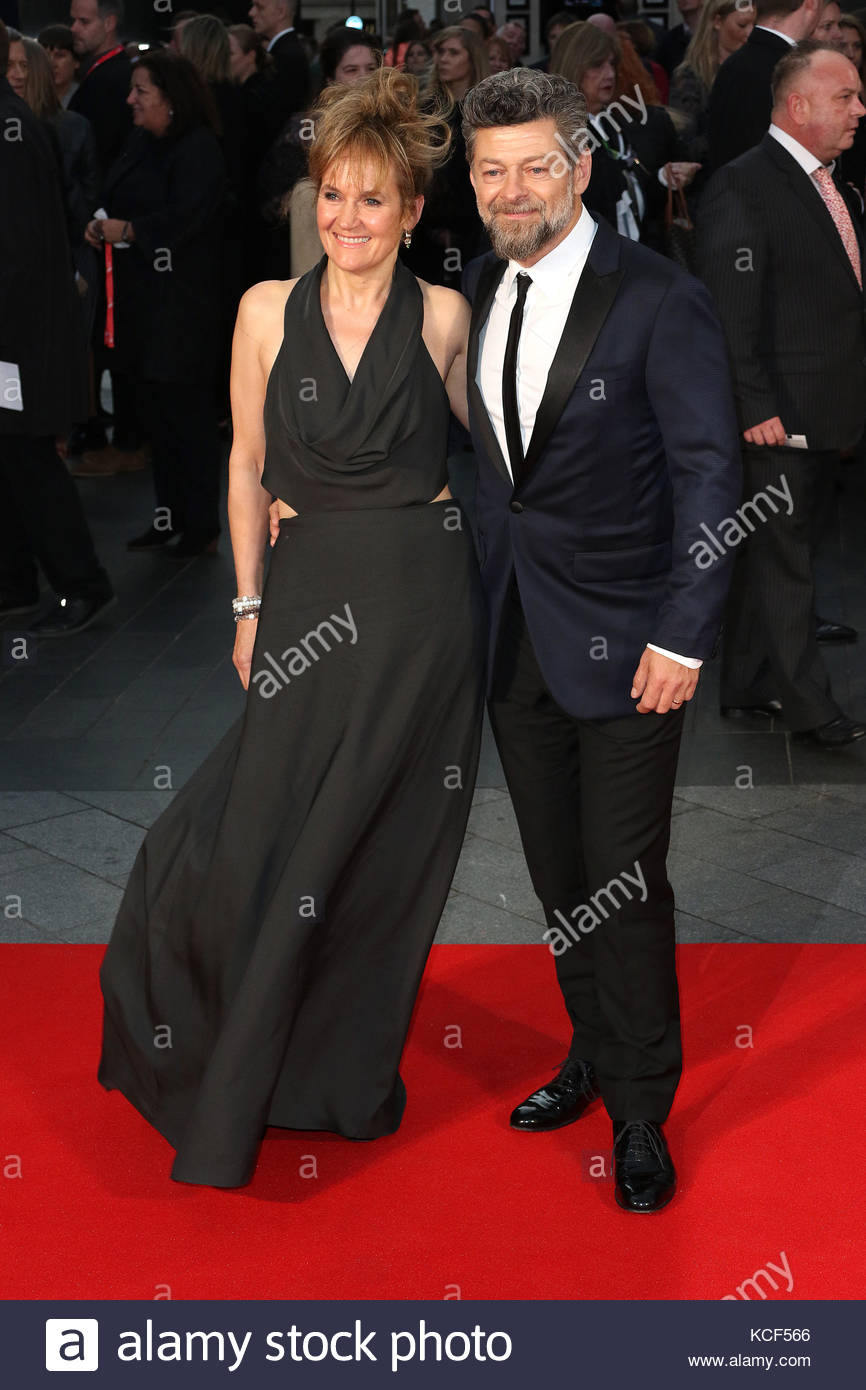 London,Great Britain. October 4th, 2017. UNITED KINGDOM: Director Andy Serkis and his wife Lorraine Ashbourne attend - Stock Image