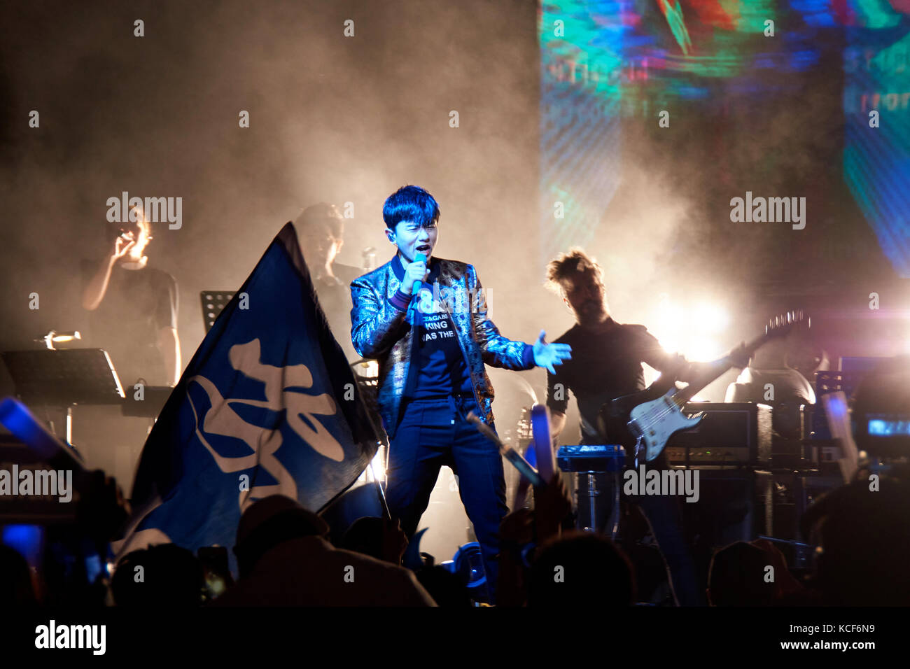 London, UK, 4th October, 2017. Zhang Jie concert at the O2 Indigo as part of the Sound of My Heart World Tour. Credit: Calvin Tan/Alamy Live News Stock Photo