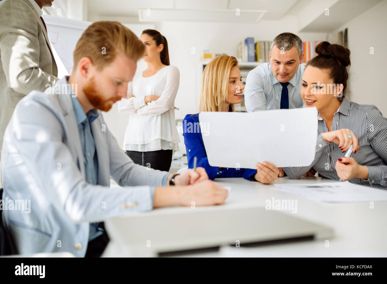 Business meeting and brainstorming - Stock Image