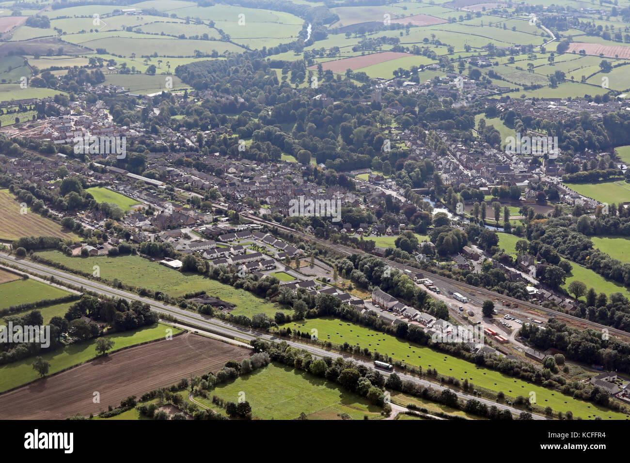 aerial view of Appleby, Cumbria, UK - Stock Image